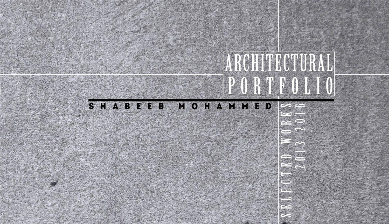 Architecture Portfolio Shabeeb Mohammed